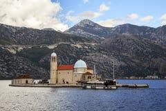 Νησί στον κόλπο Boko Kotor, Μαυροβούνιο Στοκ εικόνες με δικαίωμα ελεύθερης χρήσης