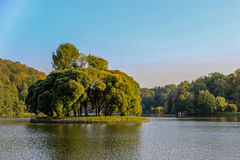 Νησί στο πάρκο Στοκ φωτογραφία με δικαίωμα ελεύθερης χρήσης