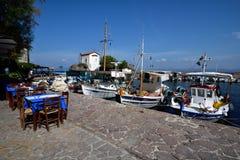 Νησί της Ελλάδας, Λέσβος, Skala Sykaminia στοκ εικόνα