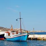 νησί της Ελλάδας φάρων στο λιμάνι και την πίτα βαρκών της Ευρώπης santorini Στοκ φωτογραφίες με δικαίωμα ελεύθερης χρήσης