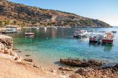 Νησί της Ζάκυνθου, Ελλάδα Παραλία Laganas στοκ εικόνα με δικαίωμα ελεύθερης χρήσης