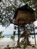 Νησί της Καμπότζης Μπανγκαλόου στα υψηλά πόδια στοκ εικόνες με δικαίωμα ελεύθερης χρήσης