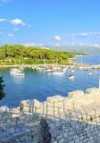 νησί της Κροατίας krk Στοκ Εικόνες
