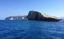 Νησί της Λευκάδας, Ελλάδα Πύργος φάρων Στοκ Φωτογραφία