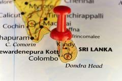 Νησί της Σρι Λάνκα, καρφίτσα σε Colombo ελεύθερη απεικόνιση δικαιώματος