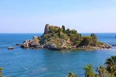 Νησί της Bella Isola Taormina στη Σικελία, Ιταλία στοκ εικόνες