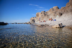 Νησί της Gotland στη θάλασσα της Βαλτικής Στοκ φωτογραφίες με δικαίωμα ελεύθερης χρήσης