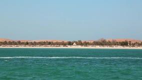 Νησί της Lulu στο Αμπού Ντάμπι, Ηνωμένα Αραβικά Εμιράτα απόθεμα βίντεο