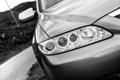Νησί της Skye, Σκωτία, το Μάρτιο του 2012: Mazda 6 κτήμα 2005 - ιαπωνική συνεχής μηχανή βενζίνης, προβλήματα με τη διάβρωση σωμάτ στοκ φωτογραφία με δικαίωμα ελεύθερης χρήσης