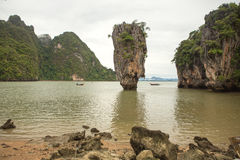Νησί του James Bond στον κόλπο Phang Nga, Ταϊλάνδη Στοκ Εικόνα