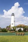 Νησί του ST George φάρων κοντά σε Apalachicola, Φλώριδα, ΗΠΑ Στοκ εικόνα με δικαίωμα ελεύθερης χρήσης