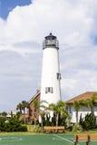 Νησί του ST George φάρων κοντά σε Apalachicola, Φλώριδα, ΗΠΑ Στοκ εικόνες με δικαίωμα ελεύθερης χρήσης