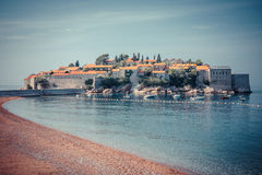 Νησί του Stefan Sveti στο Μαυροβούνιο, Βαλκάνια, αδριατική θάλασσα Στοκ φωτογραφίες με δικαίωμα ελεύθερης χρήσης