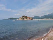 Νησί του Stefan Sveti Στοκ Φωτογραφία