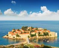 Νησί του Stefan Sveti στοκ εικόνες