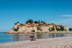 Νησί του Stefan Sveti, Budva, Μαυροβούνιο Στοκ Εικόνες