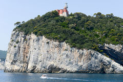 Νησί του Tino κοντά σε Portovenere, Ιταλία Στοκ Εικόνες