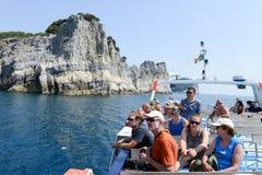 Νησί του Tino κοντά σε Portovenere, Ιταλία Στοκ Φωτογραφία