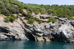 Νησί του Tino κοντά σε Portovenere, Ιταλία Στοκ φωτογραφία με δικαίωμα ελεύθερης χρήσης
