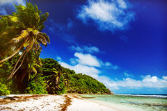 νησί τροπικό Οι Σεϋχέλλες Στοκ Εικόνα