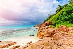 νησί τροπικό Οι Σεϋχέλλες Στοκ Εικόνες