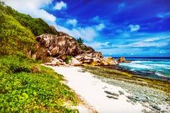 νησί τροπικό Οι Σεϋχέλλες Στοκ Φωτογραφίες