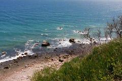 Νησί φραγμών Bluffs Mohegan Στοκ εικόνα με δικαίωμα ελεύθερης χρήσης