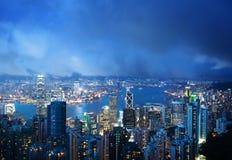 Νησί Χονγκ Κονγκ από την αιχμή Βικτώριας Στοκ Εικόνα