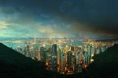 Νησί Χονγκ Κονγκ από την αιχμή Βικτώριας ` s Στοκ Φωτογραφία