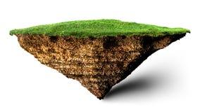 Νησί χώματος και χλόης απεικόνιση αποθεμάτων