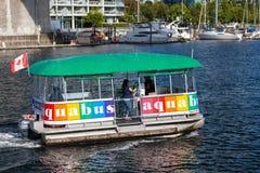 Νησί Aquabus Granville στον ψεύτικο κολπίσκο, Βανκούβερ Στοκ φωτογραφία με δικαίωμα ελεύθερης χρήσης