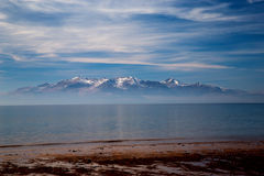 Νησί Arran από την παραλία Ayrshire Seamill Στοκ εικόνα με δικαίωμα ελεύθερης χρήσης