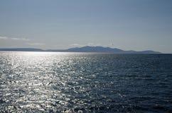 Νησί Arran (Σκωτία) στην απόσταση Στοκ εικόνες με δικαίωμα ελεύθερης χρήσης