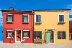 Νησί Burano, Βενετία, Ιταλία Στοκ φωτογραφίες με δικαίωμα ελεύθερης χρήσης