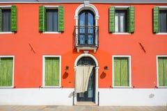 Νησί Burano, Βενετία, Ιταλία Στοκ εικόνα με δικαίωμα ελεύθερης χρήσης