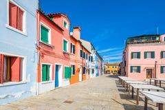 Νησί Burano, Βενετία, Ιταλία Στοκ φωτογραφία με δικαίωμα ελεύθερης χρήσης