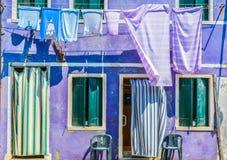 Νησί Burano, ζωηρόχρωμα σπίτια Στοκ φωτογραφίες με δικαίωμα ελεύθερης χρήσης