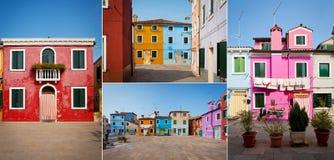 Νησί Burano, Ιταλία Στοκ Φωτογραφίες