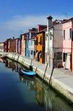 Νησί Burano στην ενετική λιμνοθάλασσα, Ιταλία Στοκ φωτογραφίες με δικαίωμα ελεύθερης χρήσης