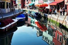 Νησί Burano στην ενετική λιμνοθάλασσα, Ιταλία Στοκ Εικόνα