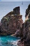 Νησί Capraia, εθνικό πάρκο Arcipelago Toscano, Τοσκάνη, Ιταλία Στοκ Εικόνες