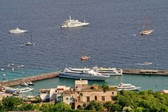 Νησί Capri, Ιταλία, Ευρώπη, κόλπος της Νάπολης, Στοκ εικόνα με δικαίωμα ελεύθερης χρήσης