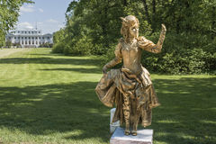 Νησί Central Park Elagin του πολιτισμού και της αναψυχής στο ST Pete Στοκ Εικόνες