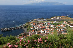 Νησί Corvo στον Ατλαντικό Ωκεανό Αζόρες Πορτογαλία Στοκ φωτογραφίες με δικαίωμα ελεύθερης χρήσης