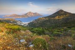 Νησί Fourni Στοκ εικόνα με δικαίωμα ελεύθερης χρήσης