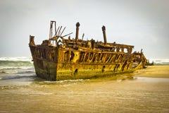 Νησί Fraser ναυαγίου Maheno Στοκ Εικόνα