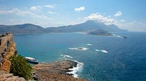 Νησί Gramvousa. Πανόραμα. Στοκ Φωτογραφίες