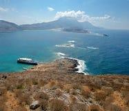 Νησί Gramvousa. Πανόραμα. Στοκ εικόνα με δικαίωμα ελεύθερης χρήσης