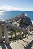 Νησί Groyne γρανίτη και σκάλα, λιμάνι του Victor, νότος Austra Στοκ φωτογραφία με δικαίωμα ελεύθερης χρήσης