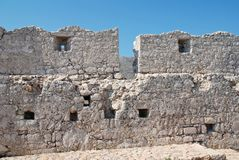 νησί halki σταυροφόρων κάστρων Στοκ φωτογραφία με δικαίωμα ελεύθερης χρήσης